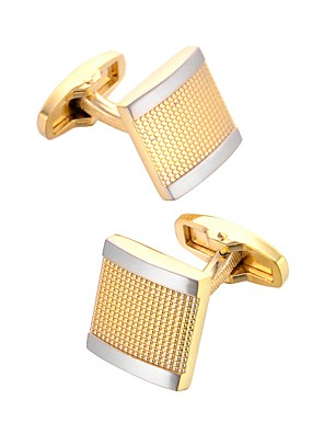 cheap Men's Accessories-Cufflinks Dresswear Fashion Brooch Jewelry Golden For Gift Daily