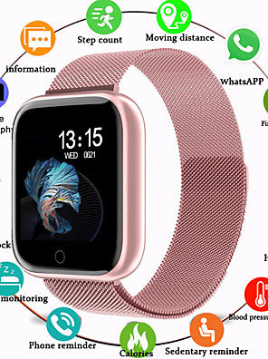 cheap Smart Watches-Smartwatch Digital Luxury Water Resistant / Waterproof Silicone Digital - Rose Gold Black / Silver Black / Black / Heart Rate Monitor