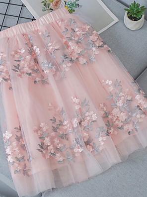 cheap Girls' Dresses-Kids Girls' Color Block Midi Dress Black