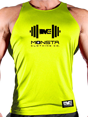cheap Men's Running Shirts-Men's Sleeveless Workout Tank Top Running Tank Top Running Singlet Top Summer Sun Protection Quick Dry Soft Gym Workout Running Active Training Jogging Sportswear Solid Colored Blue Yellow Red Navy
