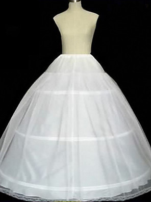 cheap Wedding Slips-The Great Gatsby Retro Vintage 1950s Skirt Petticoat Hoop Skirt Women's Costume White / Ivory Vintage Cosplay Party Masquerade