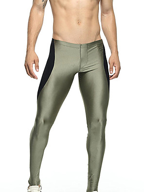 cheap Men's Exotic Underwear-TAUWELL Men's Leggings Running Tights Compression Pants Sports Leggings Running Fitness Jogging Breathable Quick Dry Soft Color Block Army Green Dark Blue / Stretchy / Skinny