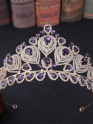 cheap Evening Dresses-Alloy Tiaras / Hair Accessory with Rhinestone / Glitter 1 Piece Wedding Headpiece