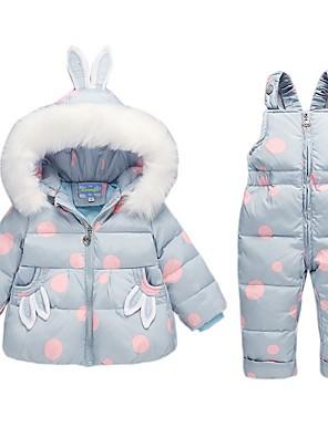 cheap Baby Girls' One-Piece-Baby Girls' Basic Polka Dot Long Sleeve Regular Clothing Set Blushing Pink