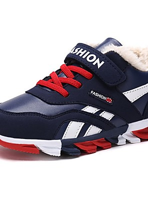 cheap Tankinis-Boys' Comfort PU Trainers / Athletic Shoes Big Kids(7years +) Running Shoes Red / Blue Winter