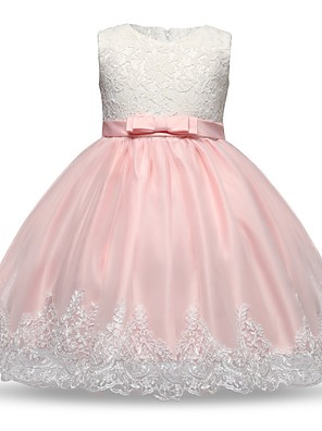 cheap Girls' Dresses-Baby Girls' Basic Color Block Sleeveless Cotton Dress Purple / Toddler