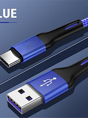 cheap Cell Phone Cables-USB Type C Cable For Samsung S10 Huawei P30 Pro Fast Charge Type-C Mobile Phone Charging Wire USB C Cable for Samsung S9 S8