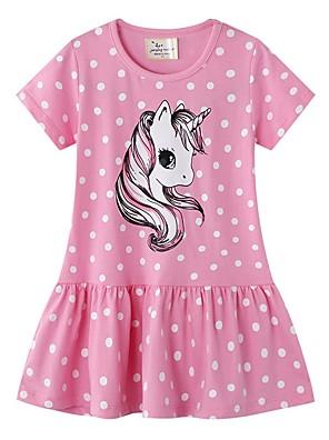 cheap Girls' Dresses-Kids Girls' Polka Dot Dress Blushing Pink