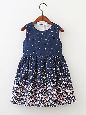 cheap Girls' Dresses-Kids Girls' Animal Dress Navy Blue