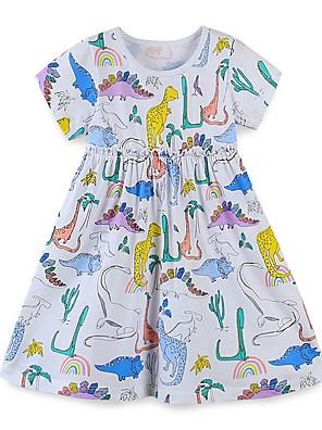 cheap Girls' Dresses-Kids Girls' Animal Dress White
