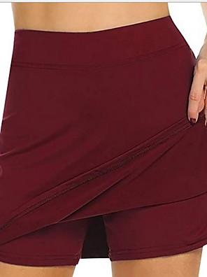 cheap Romantic Lace Dresses-Women's Basic Shorts Pants - Solid Colored High Waist Wine White Black S / M / L