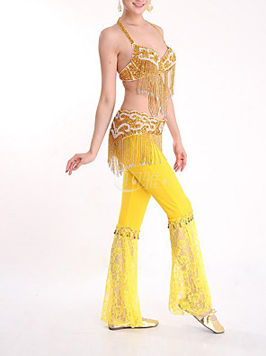 cheap Cocktail Dresses-Belly Dance Top Beading Tassel Women's Performance Polyester