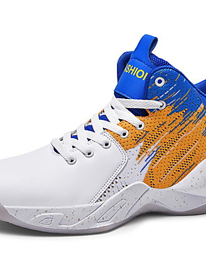 cheap Girls' Dresses-Men's Comfort Shoes PU Fall & Winter Athletic Shoes Basketball Shoes Black / Gold / White / Blue / White
