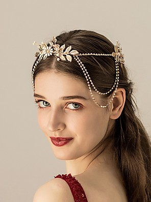 cheap Bridesmaid Dresses-Alloy Headpiece with Faux Pearl 1 Piece Wedding Headpiece