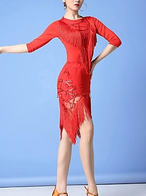 cheap Evening Dresses-Latin Dance Skirts Tassel Women's Performance Polyester