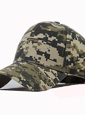 cheap Men's Hats-Men's Unisex Basic Cotton Baseball Cap-Color Block Spring Summer Black Army Green Green