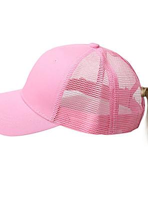 cheap Men's Hats-Men's Unisex Basic Cotton Baseball Cap-Solid Colored Spring Summer Black Wine White