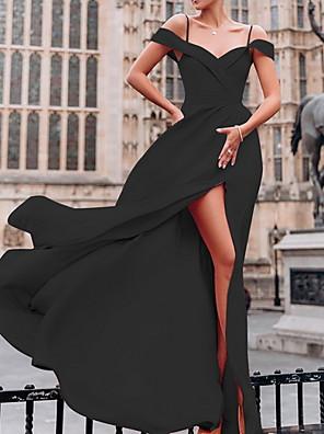 cheap Women's Dresses-Women's Maxi Swing Dress - Short Sleeve Solid Colored Spring & Summer Strap Elegant Slim 2020 Black Blue Red Green S M L XL XXL