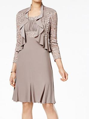 cheap Wedding Wraps-3/4 Length Sleeve Shrugs Lace Wedding Women's Wrap With Ruching / Ruffles