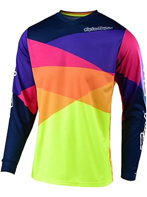 cheap Prom Dresses-18 new speed down TLD mountain bike cycling Motorcycle Jersey Top Men's long sleeve summer off-road shirt quick drying customization