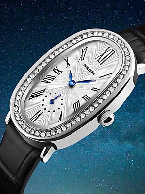 cheap Quartz Watches-SKMEI Women's Wrist Watch Diamond Watch Japanese Quartz Leather Black / White / Red 30 m Water Resistant / Waterproof Cool Analog Ladies Luxury Fashion Elegant - Black Brown Red