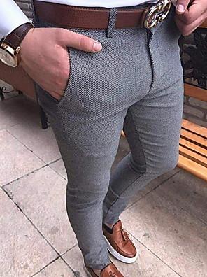 cheap Shirts-Men's Basic Chinos Pants - Solid Colored Black Light gray Dark Gray US32 / UK32 / EU40 / US34 / UK34 / EU42 / US36 / UK36 / EU44