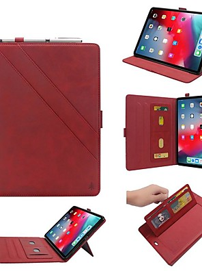cheap iPad case-Case For Apple iPad Pro 12.9''2015-2017 / iPad Pro 12.9''(2018) Wallet / Card Holder / with Stand Full Body Cases Geometric Pattern PU Leather Case For iPad Pro 12.9''2015-2017 / iPad Pro 12.9''(2018)
