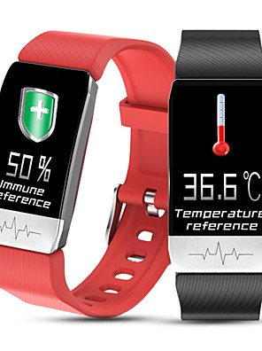 cheap Smart Watches-T1 Unisex Thermometer Smart Wristbands Android iOS Bluetooth Touch Screen Heart Rate Monitor Blood Pressure Measurement Calories Burned Thermometer ECG+PPG Pedometer Activity Tracker Sleep Tracker