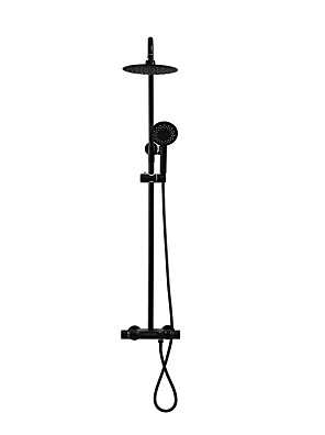 cheap Evening Dresses-Shower System Set - Handshower Included Rain Shower Rainfall Contemporary Painted Finishes Wall Mounted Ceramic Valve Bath Shower Mixer Taps