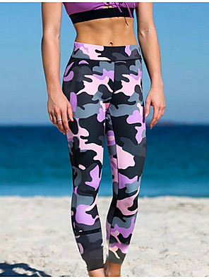 cheap Leggings-Women's Basic Legging - Geometric, Print Mid Waist Blushing Pink S M L
