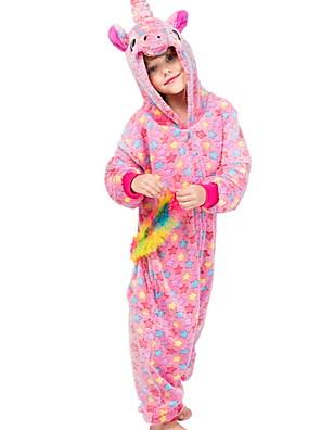 cheap Women's T-shirts-Kids Girls' Pajamas Costumes Holiday Festival Unicorn Animal Cartoon Sleepwear Blushing Pink