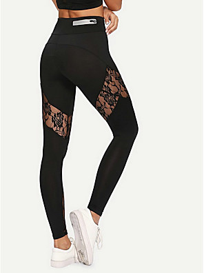 cheap Leggings-Women's Sporty Slim Sweatpants Pants - Solid Colored Black S / M / L