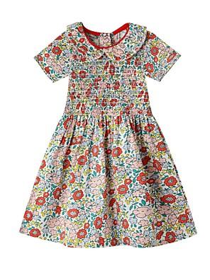 cheap Girls' Dresses-Kids Girls' Floral Dress Blushing Pink