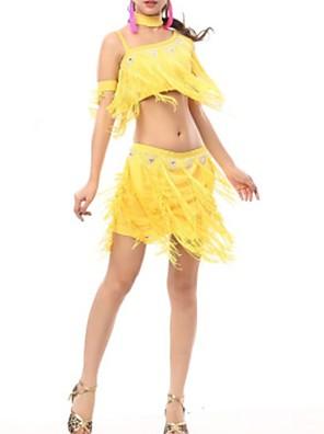 cheap Evening Dresses-Latin Dance Skirts Beading Tassel Women's Performance Polyester