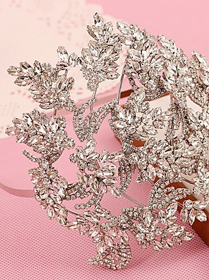 cheap Evening Dresses-Alloy Headpiece with Rhinestone 1 Piece Wedding Headpiece
