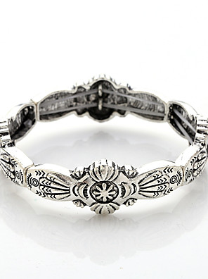 cheap Quartz Watches-Bracelet Bangles Vintage Bracelet Bracelet Vintage Style Totem Series Vintage Theme Stylish Vintage Casual / Sporty Rock Ethnic Silver Plated Bracelet Jewelry Silver For Sport Formal Prom Date