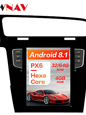 cheap Maxi Dresses-ZWNAV 10.4 inch Android 8.1 1DIN Tesla style DSP PX6 Car GPS Navigation In-Dash Car DVD Player Car multimedia player radio tape recorder For Volkswagen Golf 7 2010-2018
