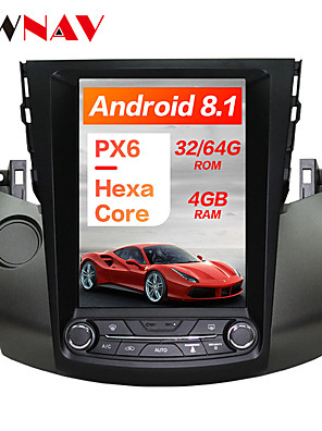 cheap Evening Dresses-ZWNAV 10.4Iinch 1DIN Android 8.1 Tesla Style 4GB 64GB Car MP5 Player Car GPS navigation Car multimedia player For Toyota RAV4 2006-2012