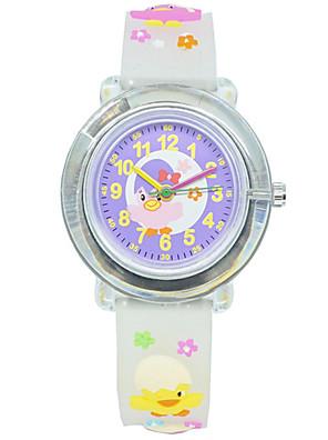 cheap Quartz Watches-Kids Sport Watch Quartz New Arrival Chronograph Rubber White / Purple Analog - White Purple One Year Battery Life