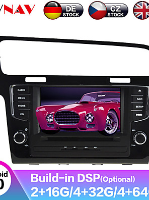 cheap Historical & Vintage Costumes-ZWNAV 7inch 2din 4GB 64GB 2.5D Android 9.0 Car MP5 Player Car GPS navigation Car multimedia player auto radio tape recorder stereo For Volkswagen Golf 7 2013