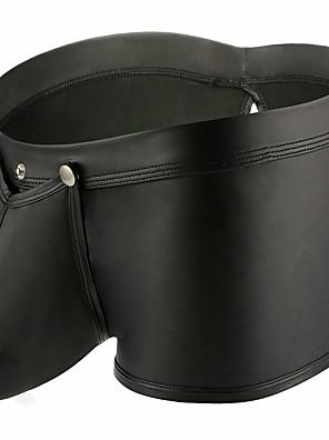 cheap Men's Exotic Underwear-Men's Basic Boxers Underwear - Normal Low Waist Black S M L