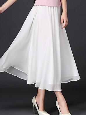 cheap Cocktail Dresses-Women's Swing Skirts - Solid Colored White Black One-Size