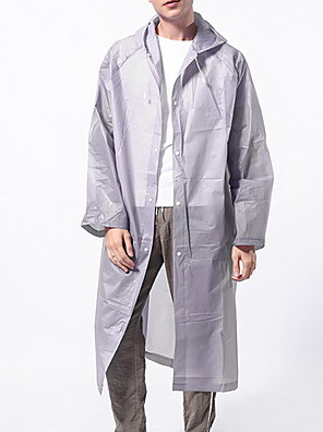 cheap Men's Hats-Men's Daily EU / US Size Long Trench Coat, Solid Colored Hooded Long Sleeve Others Purple / Yellow / Blushing Pink