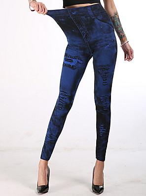 cheap Leggings-Women's Sporty Gym Yoga Slim Sweatpants Pants Print Red Orange Dusty Blue XS S M