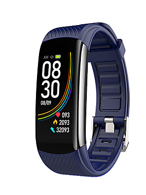 cheap Smart Watches-C6T Unisex Thermometer Smart Wristbands Android iOS Bluetooth Heart Rate Monitor Blood Pressure Measurement Sports Calories Burned Thermometer ECG+PPG Activity Tracker Sleep Tracker Sedentary