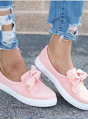 cheap Quartz Watches-Women's Sneakers Creepers Round Toe PU Spring &  Fall / Summer Pink / Black / Gray