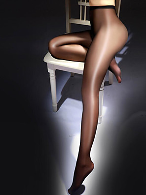 cheap Socks & Hosiery-Women's Thin Super Sexy Pantyhose - Solid Colored 10D Black White Beige One-Size