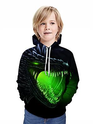 povoljno Majice s kapuljačama i trenirke za dječake-Djeca Dječaci Aktivan Ulični šik Kolaž Životinja Print Dugih rukava Trenirka s kapuljačom Duga