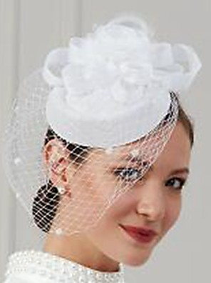 cheap Evening Dresses-Feathers / Net Fascinators / Hats / Headwear with Feather / Cap / Flower 1 Piece Wedding / Special Occasion Headpiece