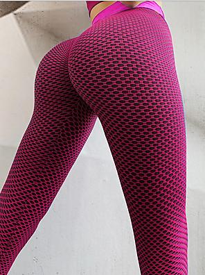 cheap Leggings-Women's Basic Legging - Plaid, Print Mid Waist Red Green Blue S M L